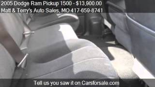 video This 2005 Dodge Ram Pickup 1500 is for sale in Joplin, MO 64801 at Matt and Terry's Auto Sales. Contact Matt and Terry's Auto Sales at www.mattandterrysautosales.com or www.carsfor...