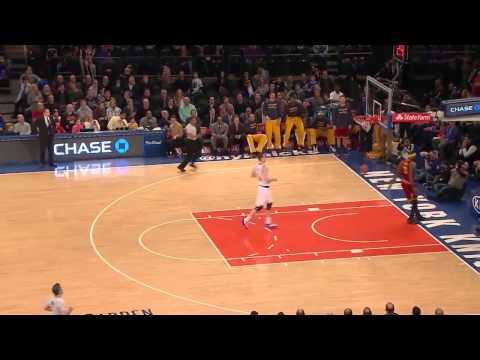 LeBron James Steal & Dunk   Cavaliers vs Knicks   February 22, 2015   NBA 2014-15 Season