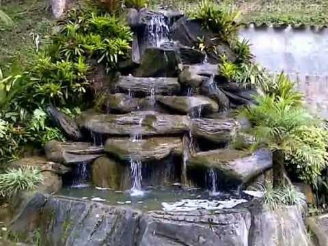 Fuente de agua casa de la juventud san antonio de los for Cascadas para jardin piedra