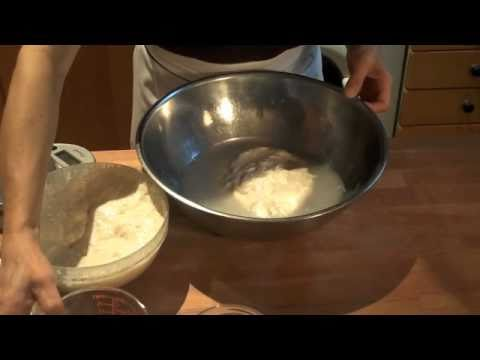 Part I- Amy Scherber Demonstrates Mixing Wet Dough
