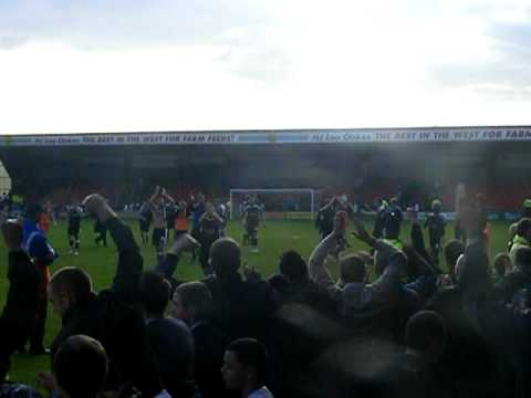 Port Vale at Crewe Alex 17/10/09 Video