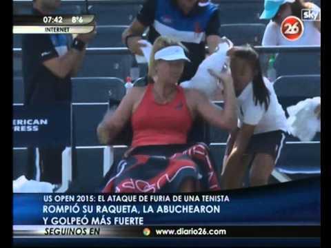 Canal 26 -El ataque de furia de una tenista