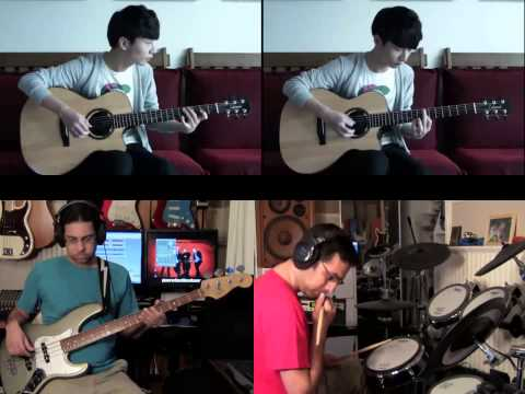 """Depapepe START"" ""Sungha Jung""  With ""Bass"" And ""Drums"" ""Cover"" Raybbj"