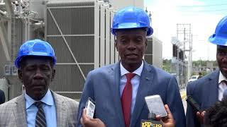 VIDEO: Haiti Electricite - President Jovenel vizite soustasyon EDH nan Tabarre