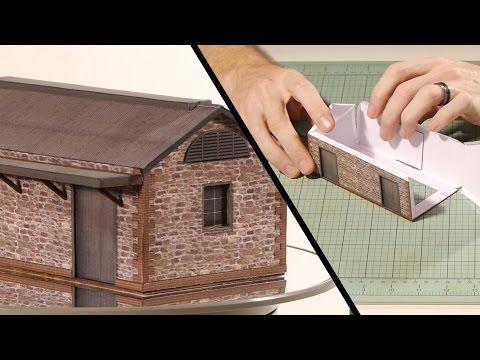 Paper Building Kits - Model Railroad Scenery