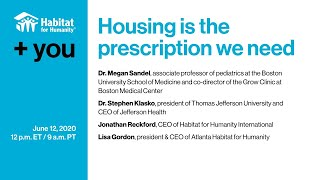 +You: Housing is the prescription we need – Habitat for Humanity, June 12, 2020