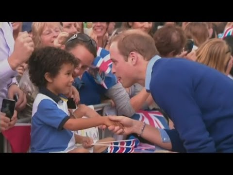 Kate and Prince William visit Auckland on New Zealand tour