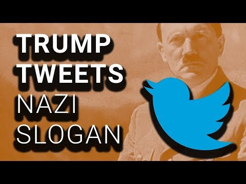 """Trump Repeatedly Tweets Nazi-Linked """"American First"""" Slogan"""