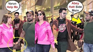 Shraddha Kapoor Ask Help From Varun Dhawan When Fan Misbehave With Her At Airport