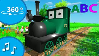 ABC song | All aboard the alphabet train! | Move the tablet/phone to look around (360 video)
