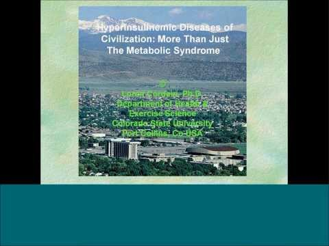 Hyperinsulinemic Diseases of Civilization More than the Metabolic Syndrome Dr  Loren Cordain