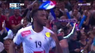 Roucoulette inverse Luc Abalo France - Egypte 06/01/17 Golden League