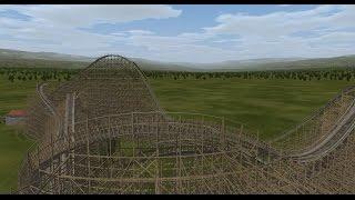Gold Striker POV - California's Great America New for 2013 GCI Wooden Roller Coaster!