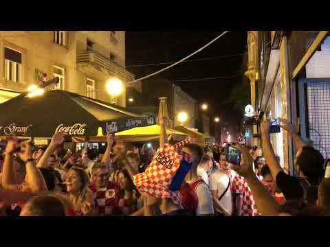 Croatia fans celebrate second place in the World Cup 2018, Zagreb, 15.07.2018., Part 6. thumbnail