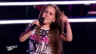 The Voice kids Battle : Manuela – Steven – Laure « Papaoutai » ( stromae )