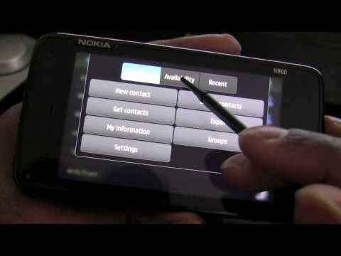N900 Review Part Two: Startup, Maemo5 Interface, Status Taskbar, Contacts, Phone