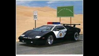California Highway Patrol Lamborghini Countach - Making of the Famous Poster