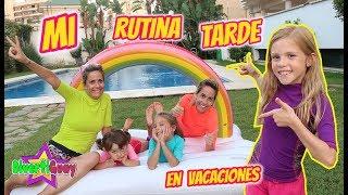MI RUTINA DE TARDE EN VACACIONES DE VERANO!! ROUTINE DE VERANO EN LA PISCINA