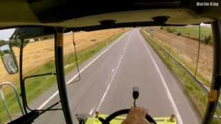CLAAS LEXION 550- last field of 2013 harvest [GoPro]