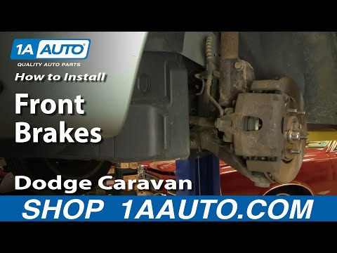 How To Install Replace Front Disc Brakes Dodge Caravan Chrysler Town and Country 1AAuto.com