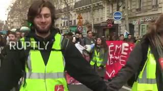 France: Student rally in Paris against new education fees