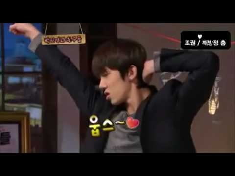 Jo Kwon dancing JYP Honey & She is Pretty.flv