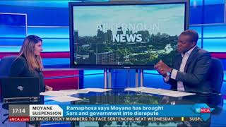 SARS boss Tom Moyane won't be going down without a fight