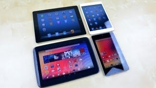 Nexus 10 vs iPad 4 vs Nexus 7 vs iPad mini Speed Test