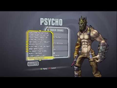 Borderlands 2 Psycho Krieg DLC All In Game Heads And Skins Customization!