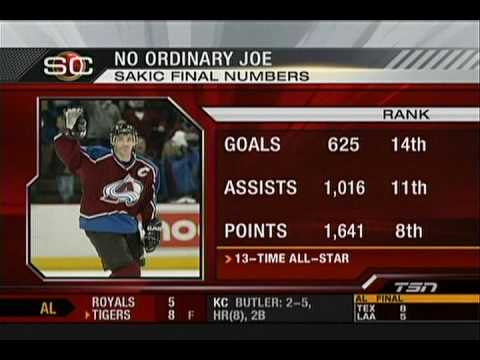 Joe Sakic Retirement Tribute TSN