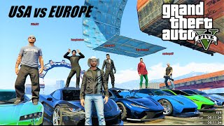 GTA 5 : RACE BATTLE - USA vs EUROPE - LIVE with the BEST MAP BUILDERS on GTA 5 - PS4