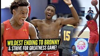 WILDEST Ending To Bronny James' WILD Championship Game!! Strive For Greatness Is TOO OP!