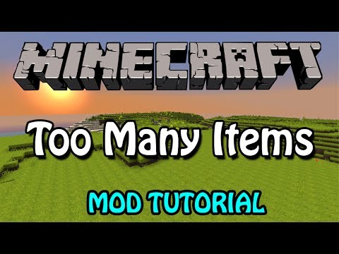 Minecraft 1.8: Too Many Items Mod Tutorial