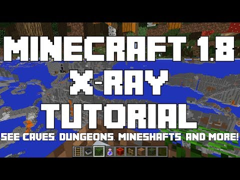 How to Make an X-Ray Machine in Minecraft 1.8 and 1.8 Snapshots