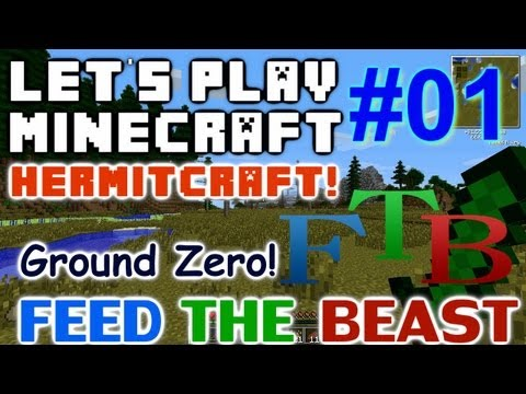 Let's Play Minecraft Hermit FTB Ep 01 - Ground Zero!