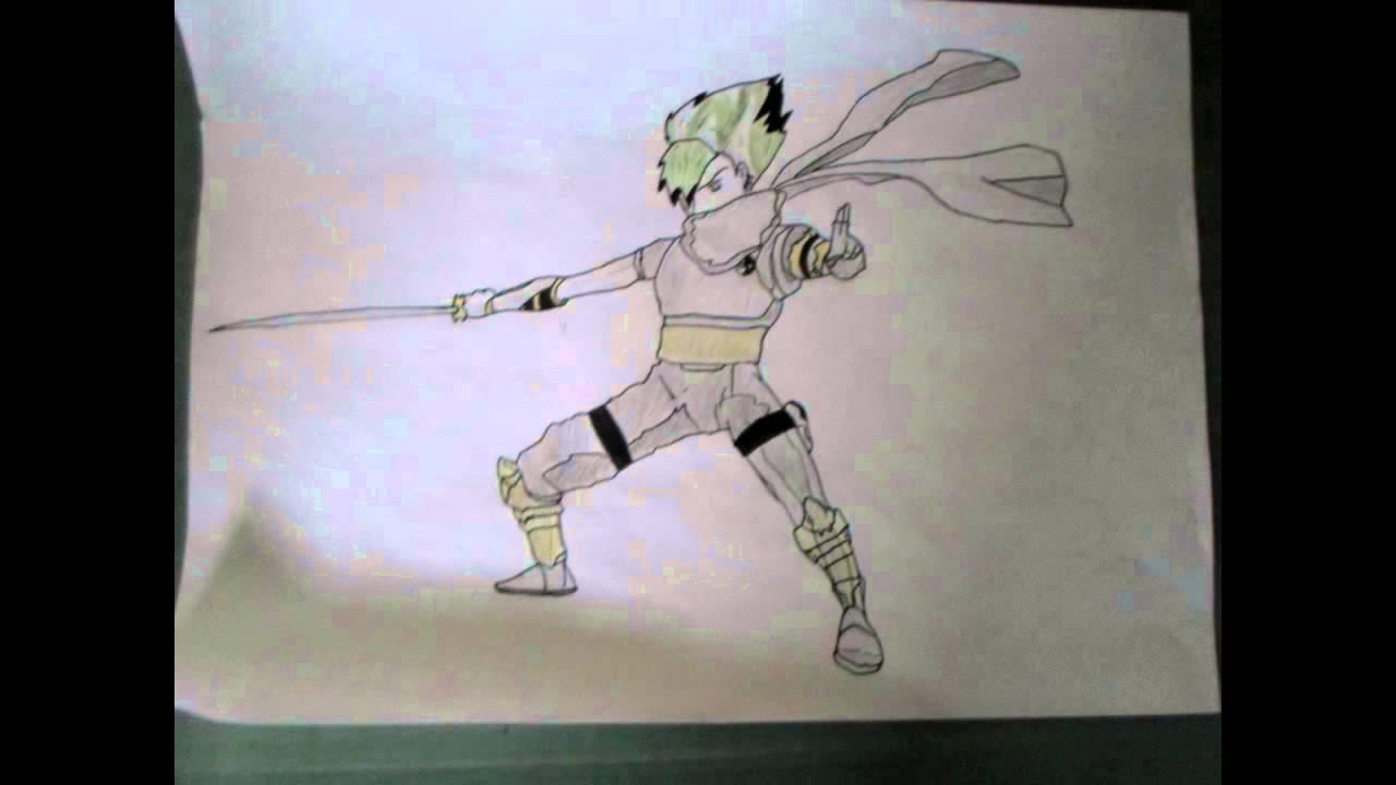 Apprendre a dessiner un ninja youtube - Dessiner un ninja ...