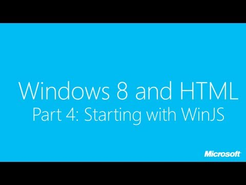 Windows 8 and HTML Part 1: Simple Example