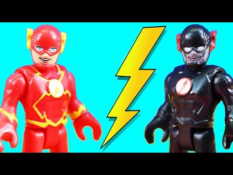 Imaginext Flash & Black Flash Speedster Battle To Rescue Justice League Superheroes