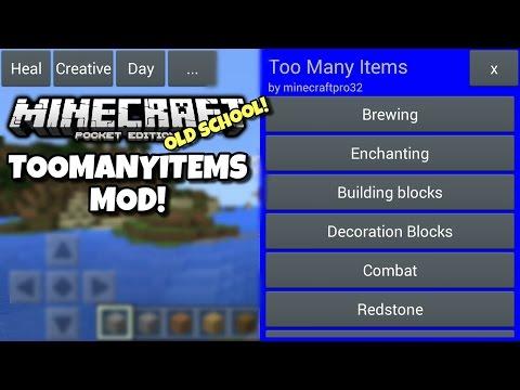 [0.13.0] Minecraft PE - OLD SCHOOL TMI! - Too Many Items Mod Showcase