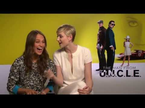The Man From UNCLE Interview - Alicia Vikander & Elizabeth Debicki