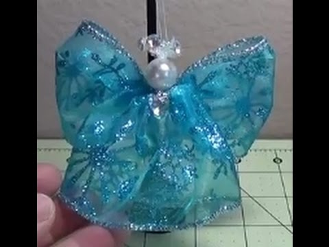 Make Another Simple Beautiful Wired Ribbon Angel For