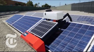Solar Robots Designed to Make Photovoltaics as Cheap as Fossil Fuels | The New York Times