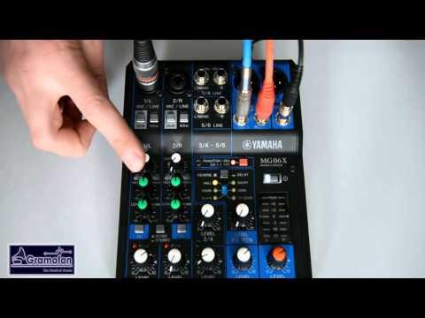 Magazin Gramofon. Yamaha MG06 / MG06X  Audio Mixer.