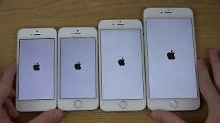 iPhone 6 Plus vs. iPhone 6 vs. iPhone 5S vs. iPhone 5 - Which Is Faster? (4K)