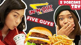Singaporeans Try: American Fast Food (In-N-Out, Five Guys, Jack In The Box)