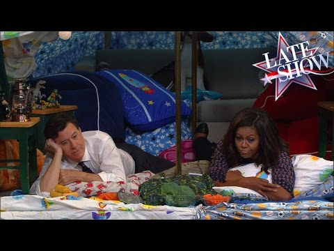 The Late Show Blanket Fort (with First Lady Michelle Obama)