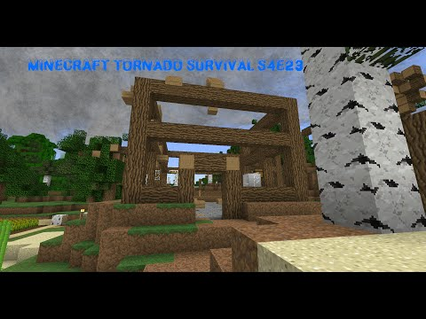 Minecraft Tornado Survival (Localized Weather Mod) S4E23: EF5 TORNADO?!