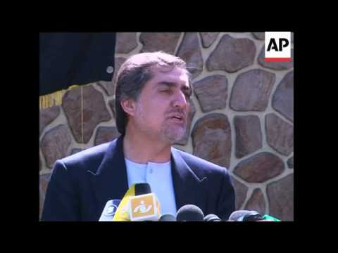 Opposition leader Abdullah Abdullah  press conference on election