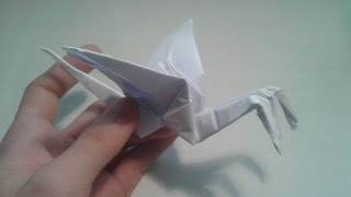Origami - How To Make A Three-headed Crane