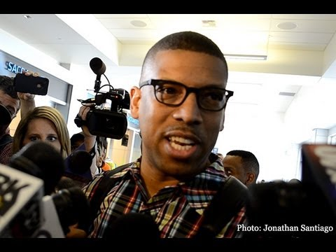 Kevin Johnson arrives in Sacramento following Kings relocation vote